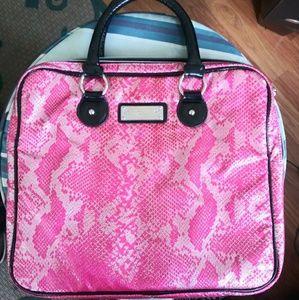 Betsey Johnson pink metallic laptop bag